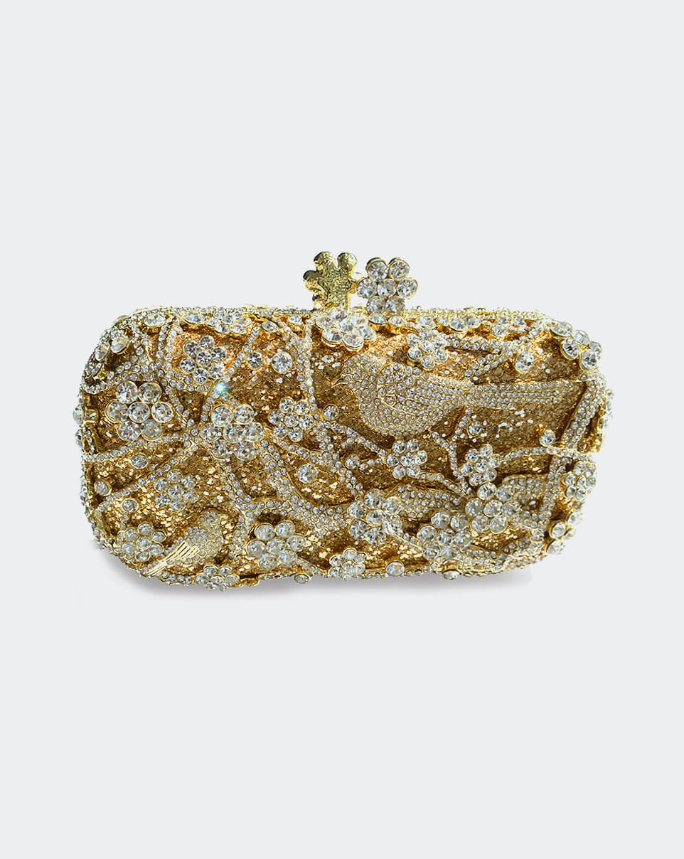 Birds and Flowers Clutch-0